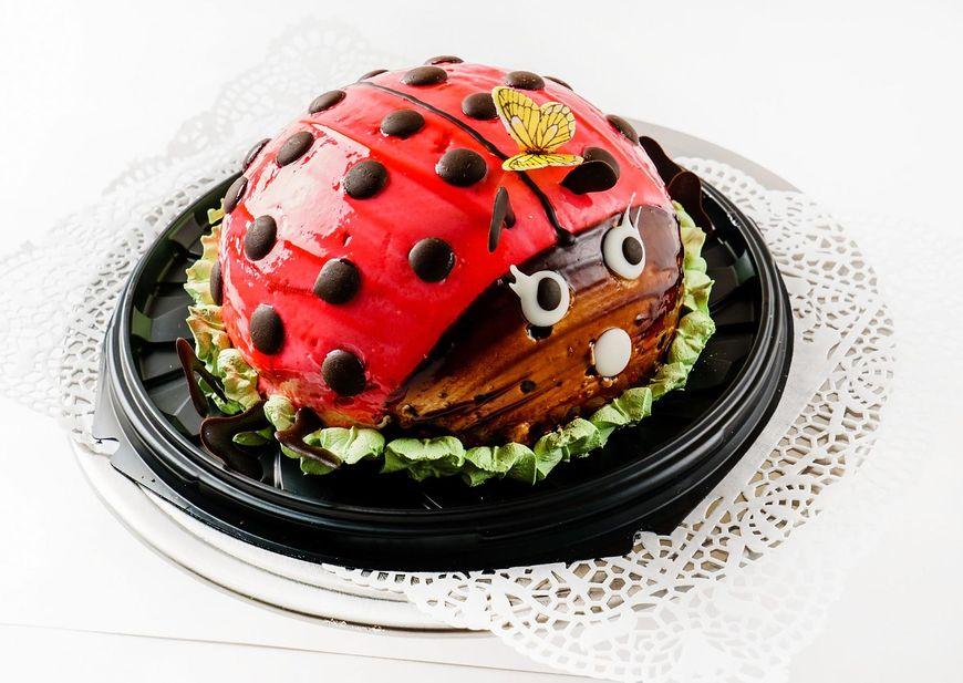 Tort w kształcie biedronki