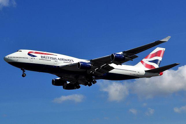 Samoloty British Airways wyróżnia ogon z barwami narodowymi Wielkiej Brytanii