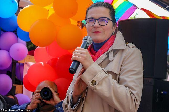 Aleksandra Dulkiewicz (prezydent Gdańska) podczas Marszu Równości