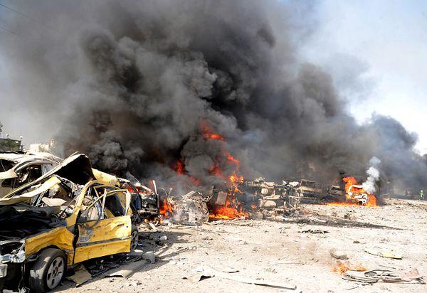 Protesty, które rozpoczęły się w Syrii na fali Arabskiej Wiosny, przerodziły się w krwawe powstanie. Na zdjęciu zamach w Damaszku, 10 maj 2012 r.