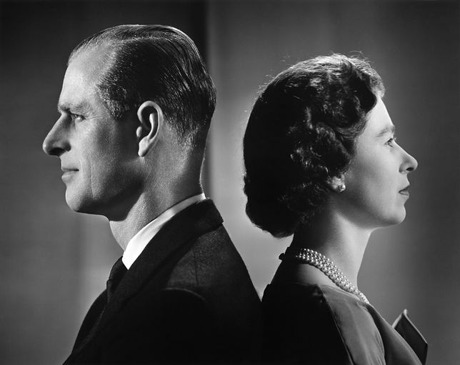 Królowa Elżbieta II i książę Filip, Londyn, grudzień 1958.