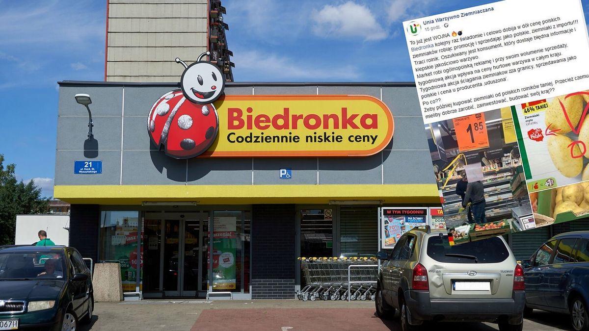 """Niemieckie ziemniaki """"z Polski"""". Biedronka przeprasza, a rolnicy grożą pozwem"""