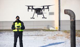Bielsko-Biała. Drony skontrolują czym palą w piecach mieszkańcy