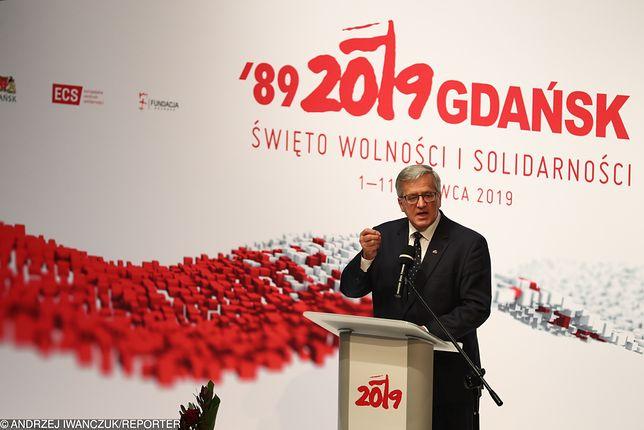 Gdańsk. Obchody 4 czerwca 1989 r. Bronisław Komorowski z żalem o rządzących