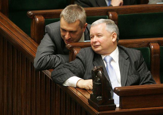 Sejm. Roman Giertych oraz Jarosław Kaczyński w ławach rządowych (zdj. arch.)