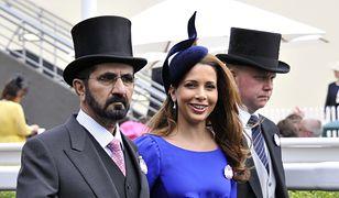 Książna Haya z mężem podczas wizyty w Anglii
