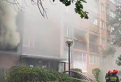 Warszawa. Pożar na Powiślu. Wieżowiec w ogniu