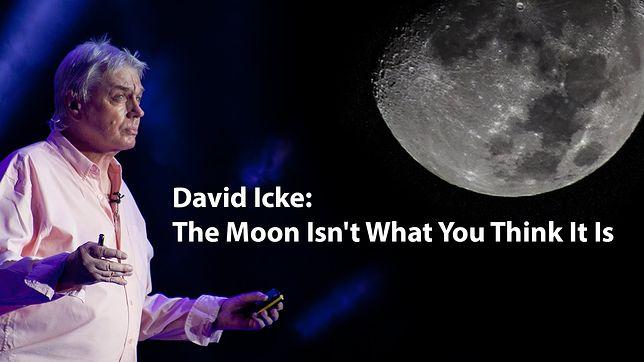 Według Davide Icke'a, Księżyc to sztuczna baza, z której kontroluje się ludzi