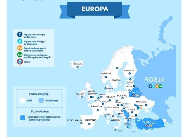 Wg VPN Mentor trendy w Polsce doprowadzą do ograniczenia wolności internetu