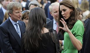 Kate Middleton w zielonej sukience w 2011 roku