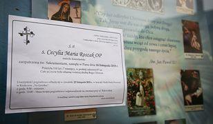Pogrzeb zakonnicy Cecylii Roszak
