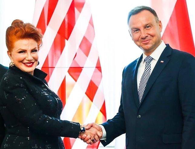 Georgette Mosbacher i Andrzej Duda, 6 września 2020 roku.