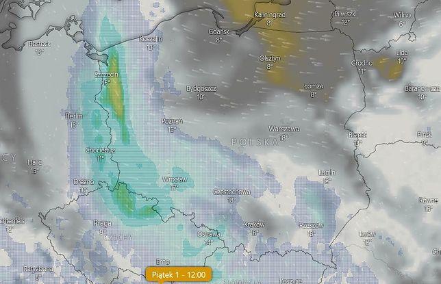 Pogoda na majówkę 2020. Z zachodu nadejdzie niż niosący chmury i wyczekiwane opady deszczu.