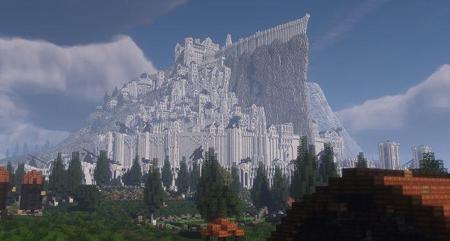 Tak wygląda Minas Tirith w Minecrafcie