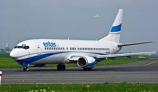 Boeing 737-4Q8 linii Enter Air. Podobną maszyną leciał nerwowy kapitan