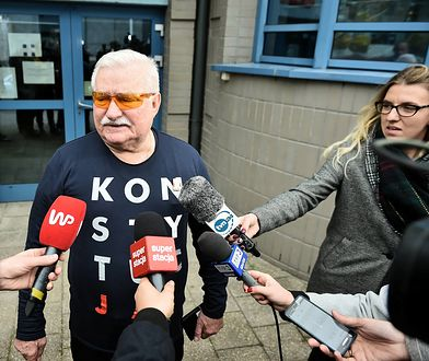 Lech Wałęsa tylko na to czekał. Zagraniczne media napisały o jego koszulce