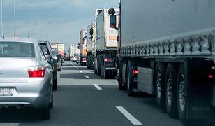 Na autostradzie A4 w rejonie Mysłowic zapadła się jezdnia