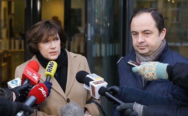 Szefowa przedstawicielstwa Komisji Europejskiej w Polsce Marzenna Guz-Vetter oraz sekretarz stanu ds. europejskich Konrad Szymański