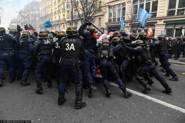 Francja. Paryż. Niespokojnie na manifestacjach
