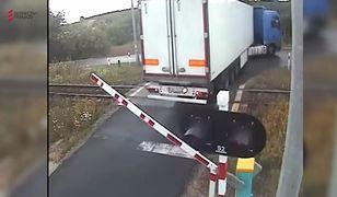 Szokujące nagranie. Pociąg z ogromną siłą uderzył w ciężarówkę