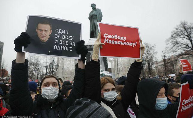 Aleksiej Nawalny znów został aresztowany. Ludzie w całej Rosji wyszli na ulice, by protestować przeciwko zatrzymaniu opozycjonisty