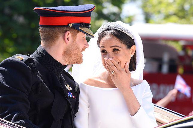 Księżna Meghan z mężem