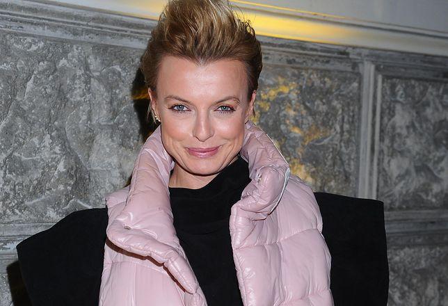Katarzyna Sokołowska pozuje w piżamie