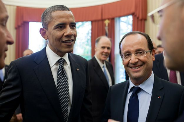 Francois Hollande u Baracka Obamy