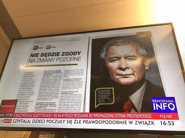 Telewizja publiczna nieustannie komentowała wywiad z prezesem Kaczyńskim