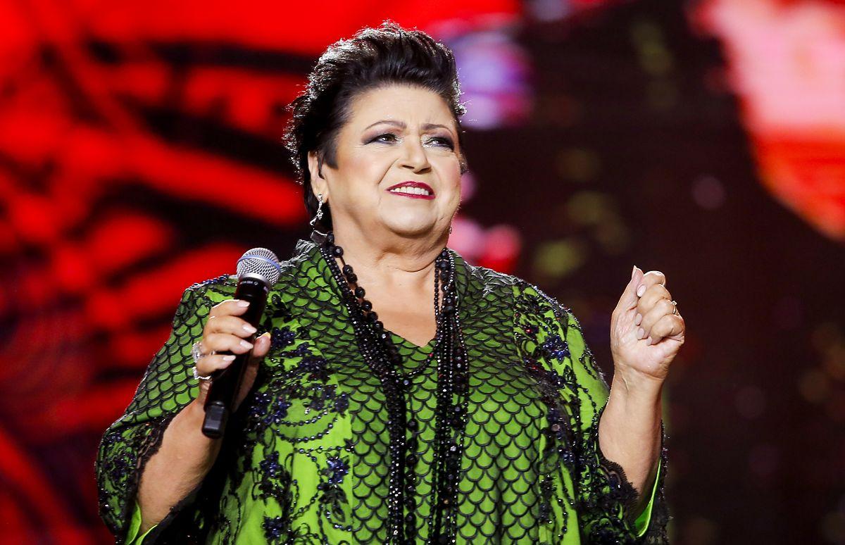 Ewa Bem na scenie w Sopocie, sierpień 2021 r.