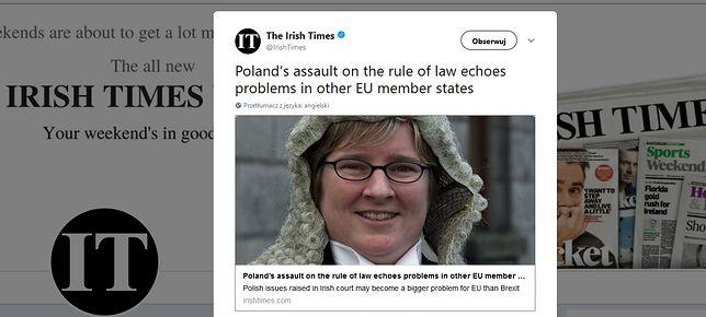 Aileen Donnelly jest pierwszą homoseksualistką w Sądzie Najwyższym w Irlandii
