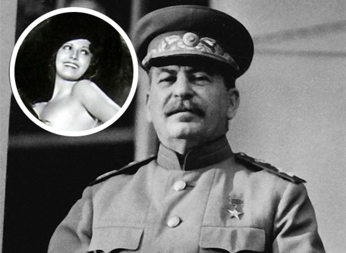 Józef Stalin i amerykańska aktorka Doris McMahon, którą wódz ZSRR wyjątkowo cenił
