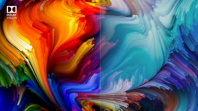 Po lewej obraz z efektem Dolby Vision, po prawej – bez, fot. Dolby