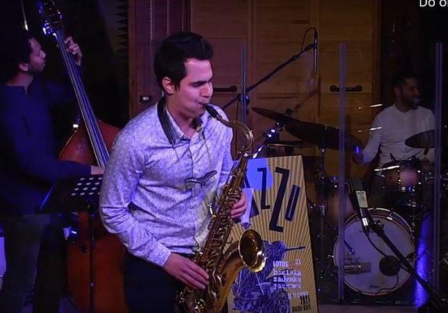 Śląskie. Klarnecista Joaquin Martines Sosa z zespołem zostali laureatami nagrody głównej konkursu dla młodych muzyków Bielskiej Zadymki Jazzowej.