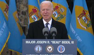 USA. Joe Biden przemówił w swoim rodzinnym stanie przed wyjazdem do Waszyngtonu