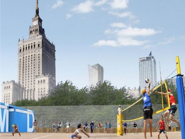 Plaże w samym centrum Warszawy. Będą boiska i leżaki
