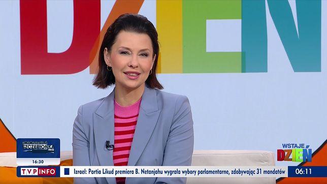 Anna Popek prowadzi poranny program w TVP Info