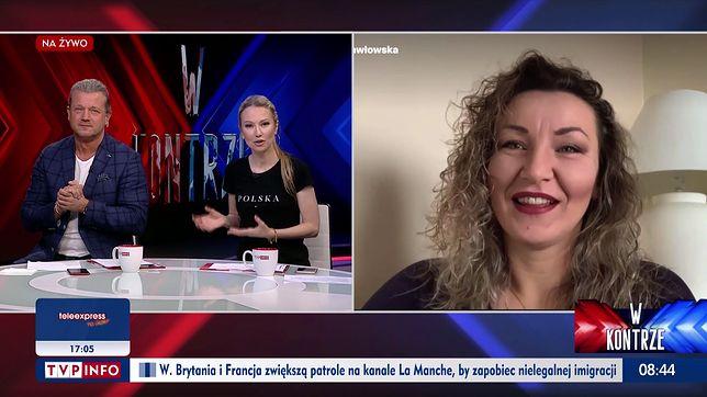 """Monika Pawłowska była w programie TVP Info """"W kontrze"""""""