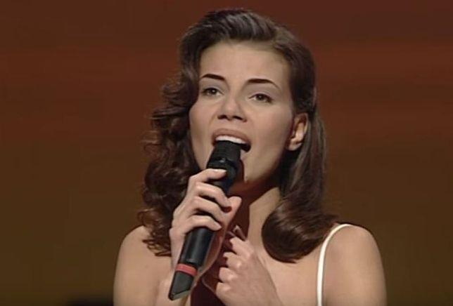 Edyta Górniak podczas występu na Eurowizji
