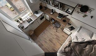 Małe, ale stylowe – w tym mieszkanku mógłby rezydować nie tylko student