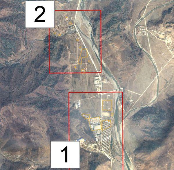 Teren jednego z obozów pracy w Korei Płn.; zdjęcie satelitarne z 2011 r.