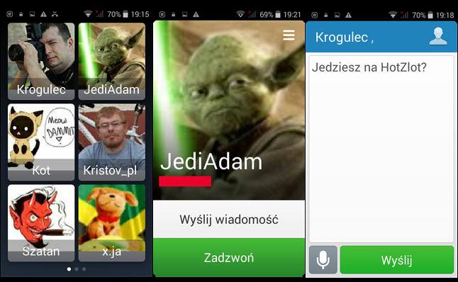 Szybkie kontakty / Kontakt / SMS