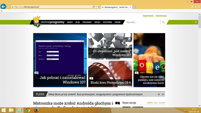 Internet Explorer na Windows 8