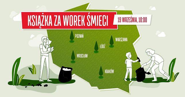 Wrocław. Książka za worek śmieci. Kolejna edycja akcji już 19 września