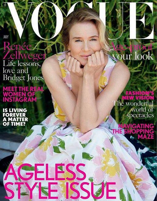 "Renée Zellweger na okładce lipcowego ""Vogue UK"""