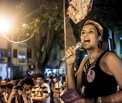 Marielle Franco podczas wiecu na ulicach Rio de Janeiro, sierpień 2016.