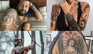 Z tatuaży na ramieniu można stworzyć całą kompozycję