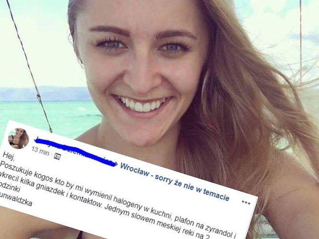 Justyna opublikowała ogłoszenie na Facebooku. Teraz mierzy się z falą hejtu