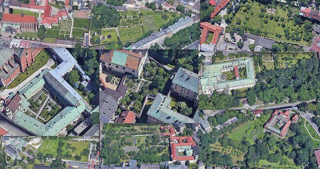 Kościelne ogrody za murami w centrum Krakowa