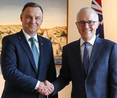 Spotkanie Andrzeja Dudy z Malcolmem Turnbullem nie trwało zbyt długo